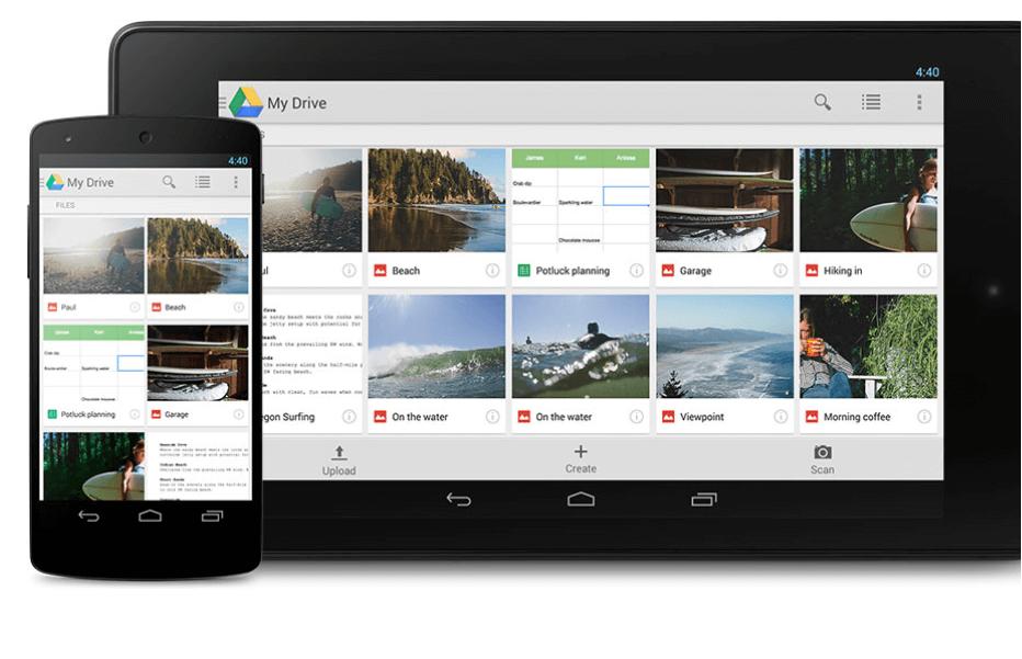 Organizacja pracy - Google Drive
