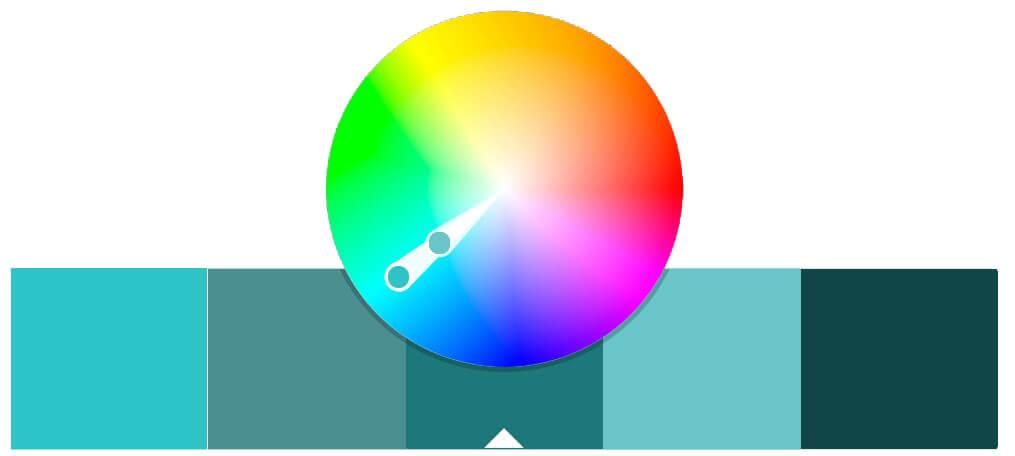 Koło kolorów - schemat monochromatyczny