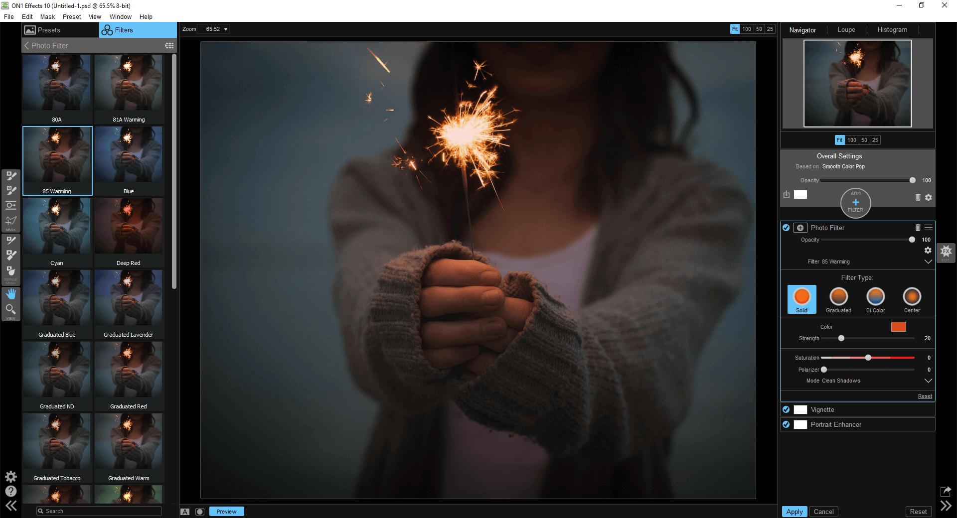 Darmowe wtyczki do Photoshopa - ON1 Effects
