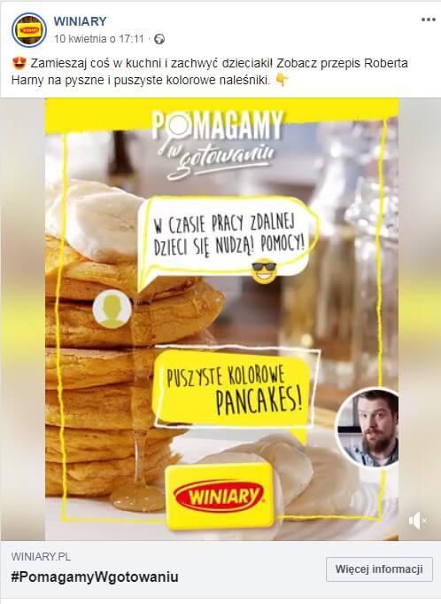 Angażujęce posty na facebooka - post zprzepisem kulinarnym wformie filmu