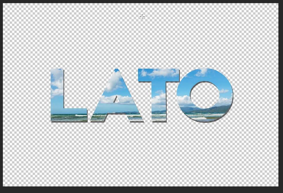 Photoshop tutorial - tekst wypełniony grafiką