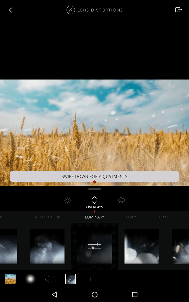 Aplikacja do nakładania efektów świetlnych na zdjęcia