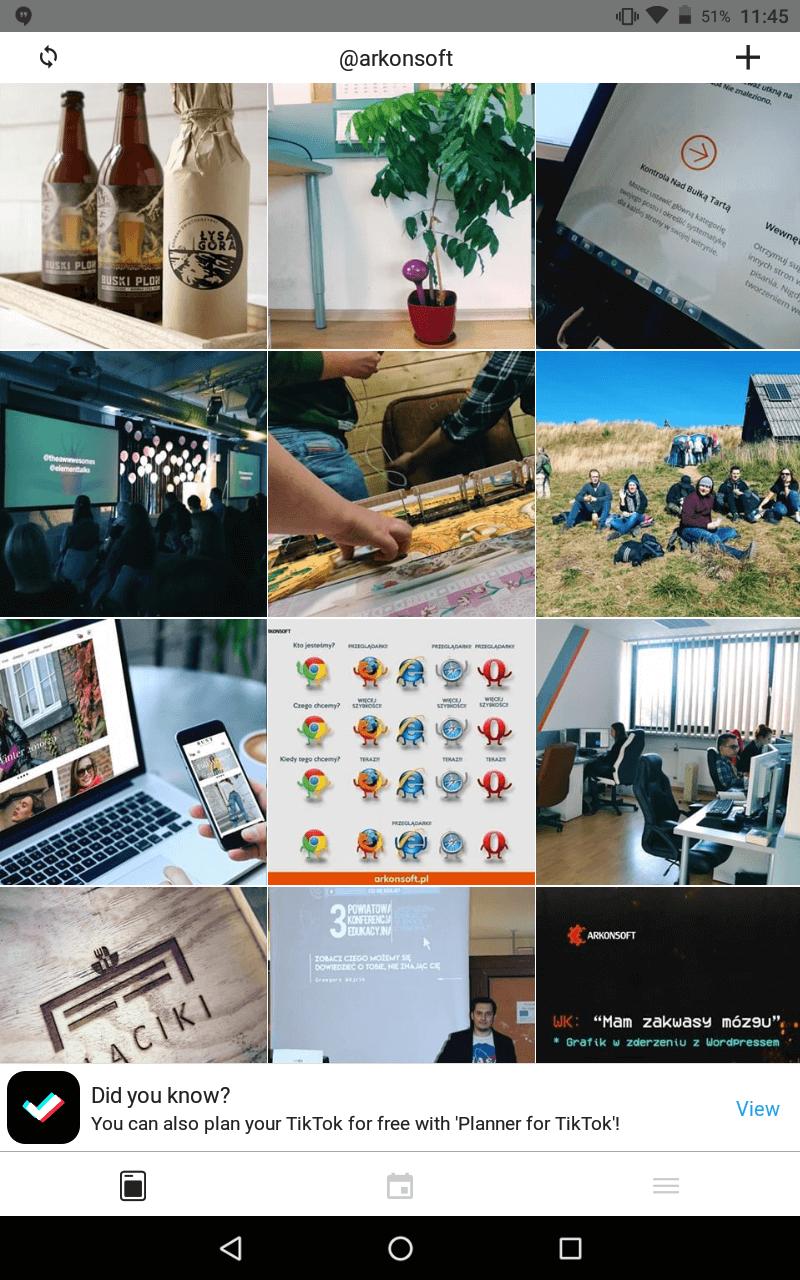 Aplikacje przydatne wprowadzeniu instagrama - aplikacja do podglądu tablicy