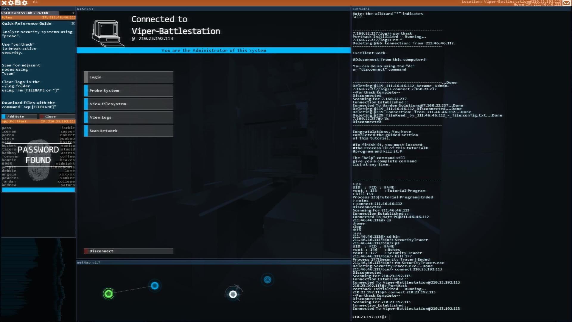 Ekran gry do ćwiczeń dla programistów.