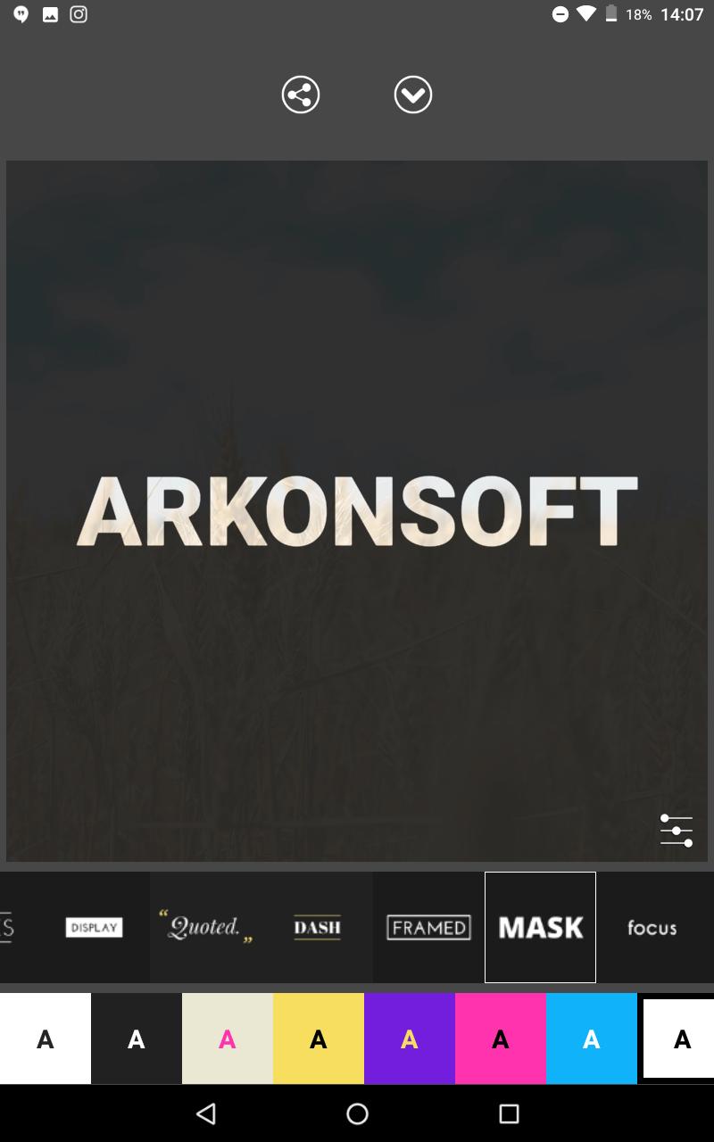 ekran aplikacji Legend
