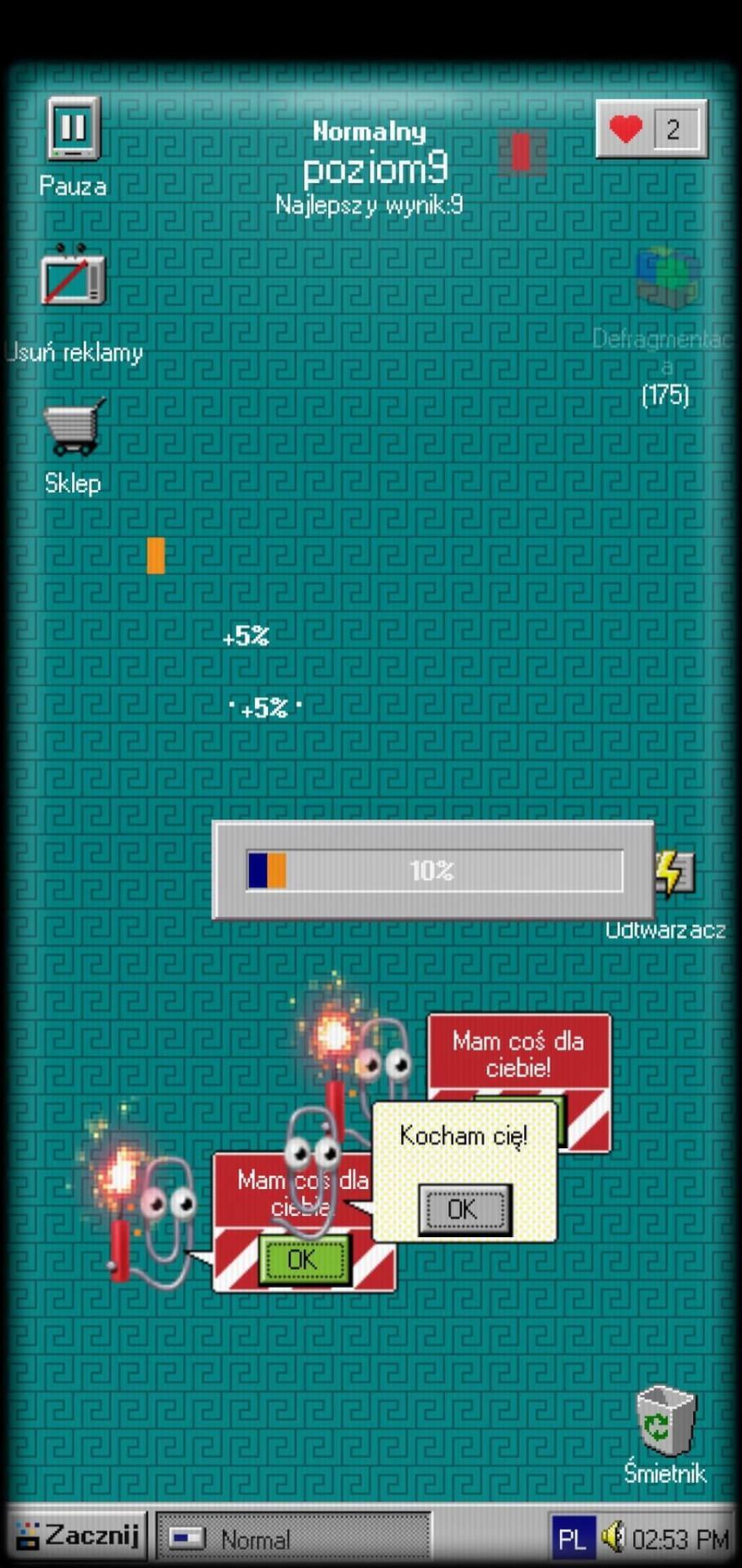Ekran retro gry dla grafików iprogramistów.