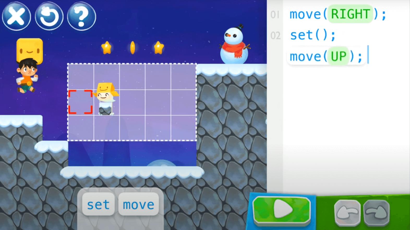 Ekran gry dla programistów - SpriteBox Code.