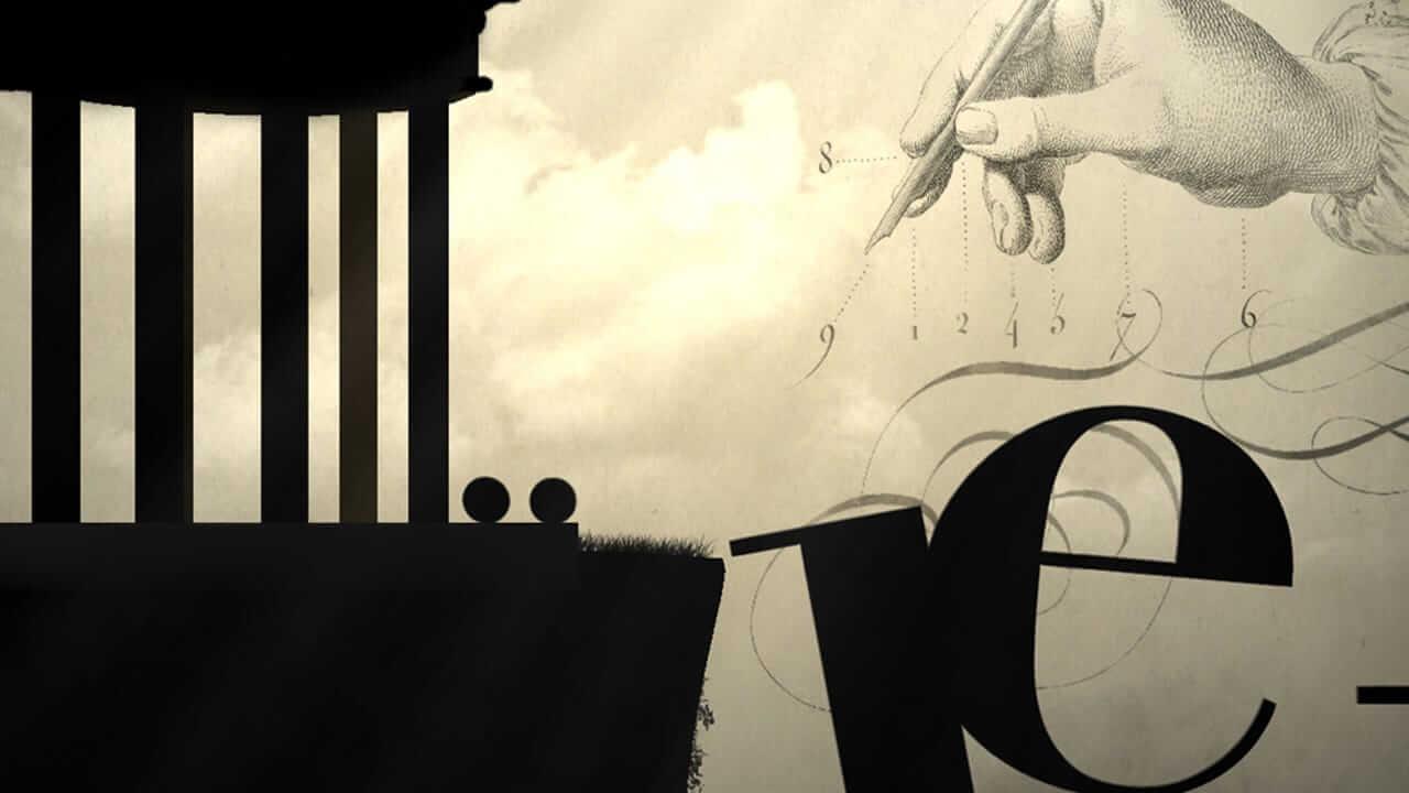 Ekran gry otypografii dla grafików iprogramistów.
