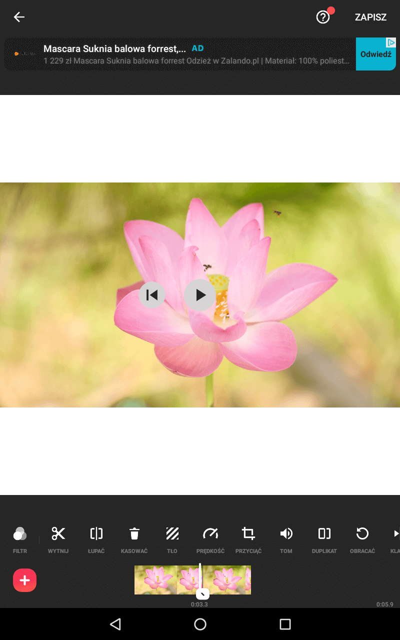 Aplikacje do montażu wideo na telefonie - InShot