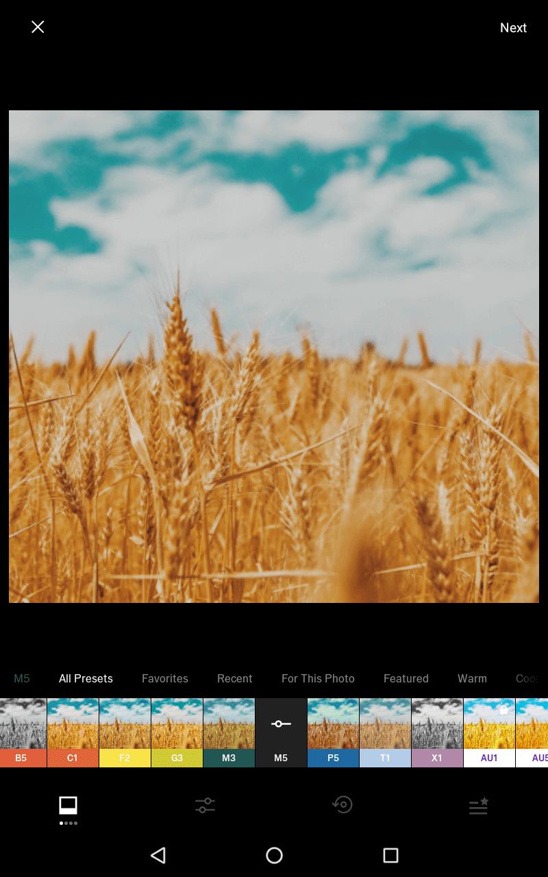 Aplikacja zfiltrami do obróbki zdjęć.