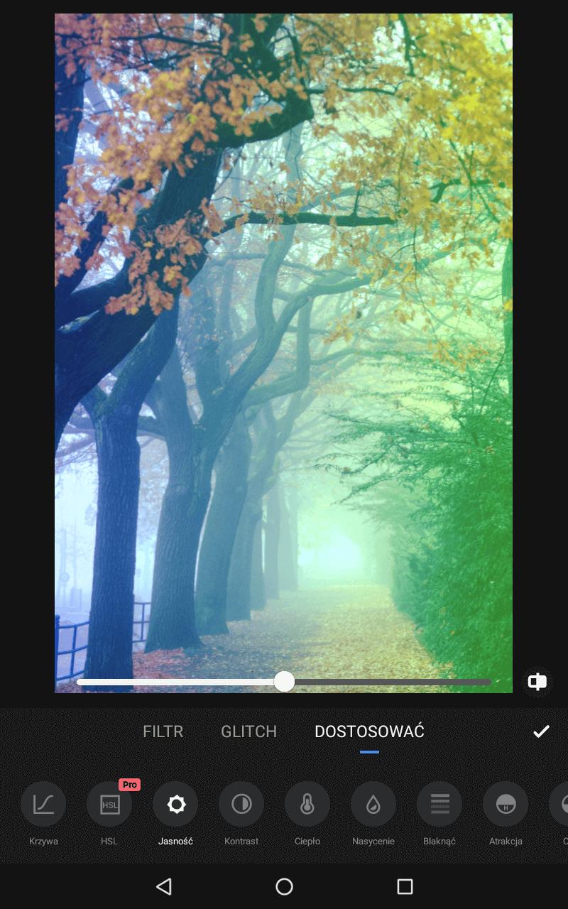 Ekran aplikacji do pracy ze zdjęciami.