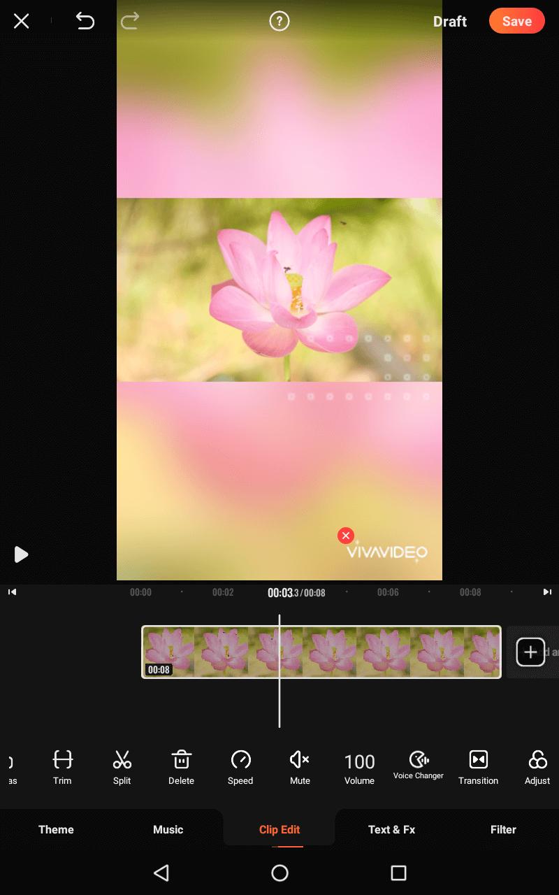 Viva viedo - aplikacja na montażu iobróbki wideo na telefonie.